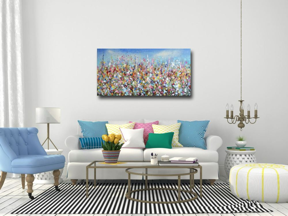 Original abstract floral paintings for sale