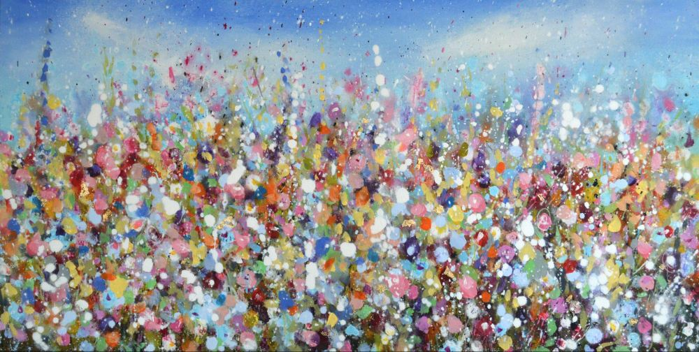 Large floral abstract painting original modern for Original abstract paintings for sale