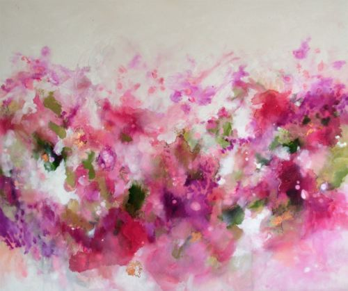 A Certain Smile - Large Original Abstract Expressionist Painting on Canvas