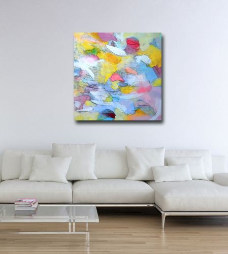 Bella I - Large Abstract Canvas Art Giclee Print from Painting