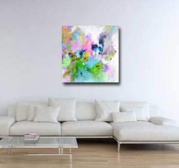 Large Abstract Canvas Art Giclee Print from Painting
