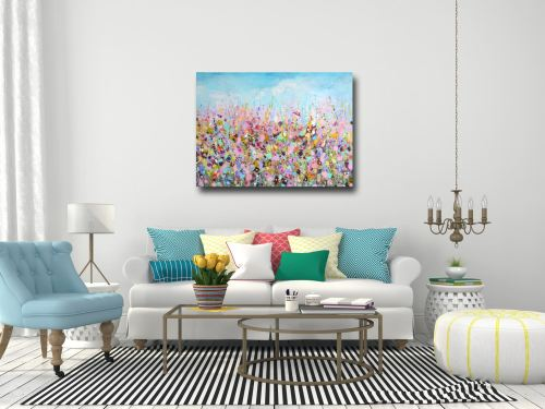Lazy Days II - Large Canvas Floral Meadow Art Print