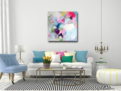 Large Modern Abstract Canvas Art Giclee Print from Painting