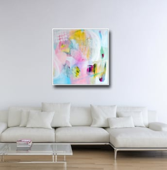 Large Modern Abstract Canvas Wall Art Giclee Print from Painting