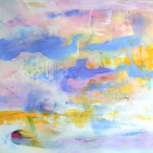 Elements Of Innocence - Large Original Abstract Expressionist Painting on