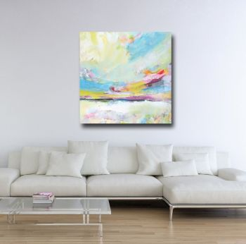 Abstract Landscape Canvas Wall Art Giclee Print