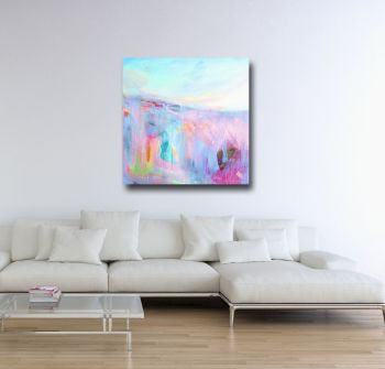 Large Abstract Landscape Canvas Art Giclee Print