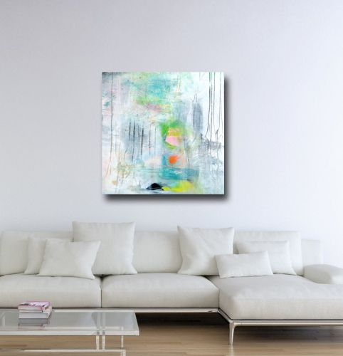 Large Modern Abstract Canvas Giclee Print Wall Art from Painting