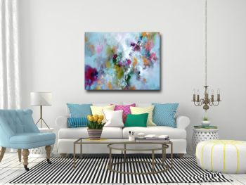 Strata -  Large Abstract Canvas Art Print