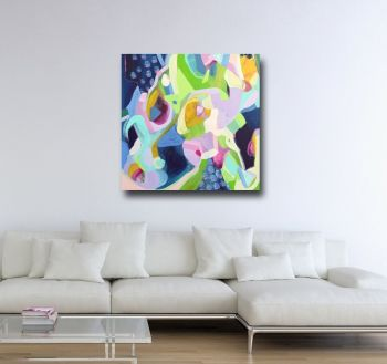 Fairground - Large Abstract Canvas Art Giclee Print