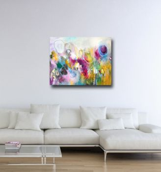 Balloons Large Abstract Canvas Art Print
