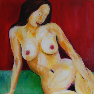 Colourful Original Nude Painting - SOLD