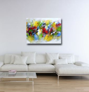 Large Abstract Canvas Giclee Print Wall Art from Painting