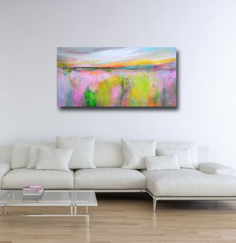 Abstract Landscape Canvas Art Panoramic Giclee Print