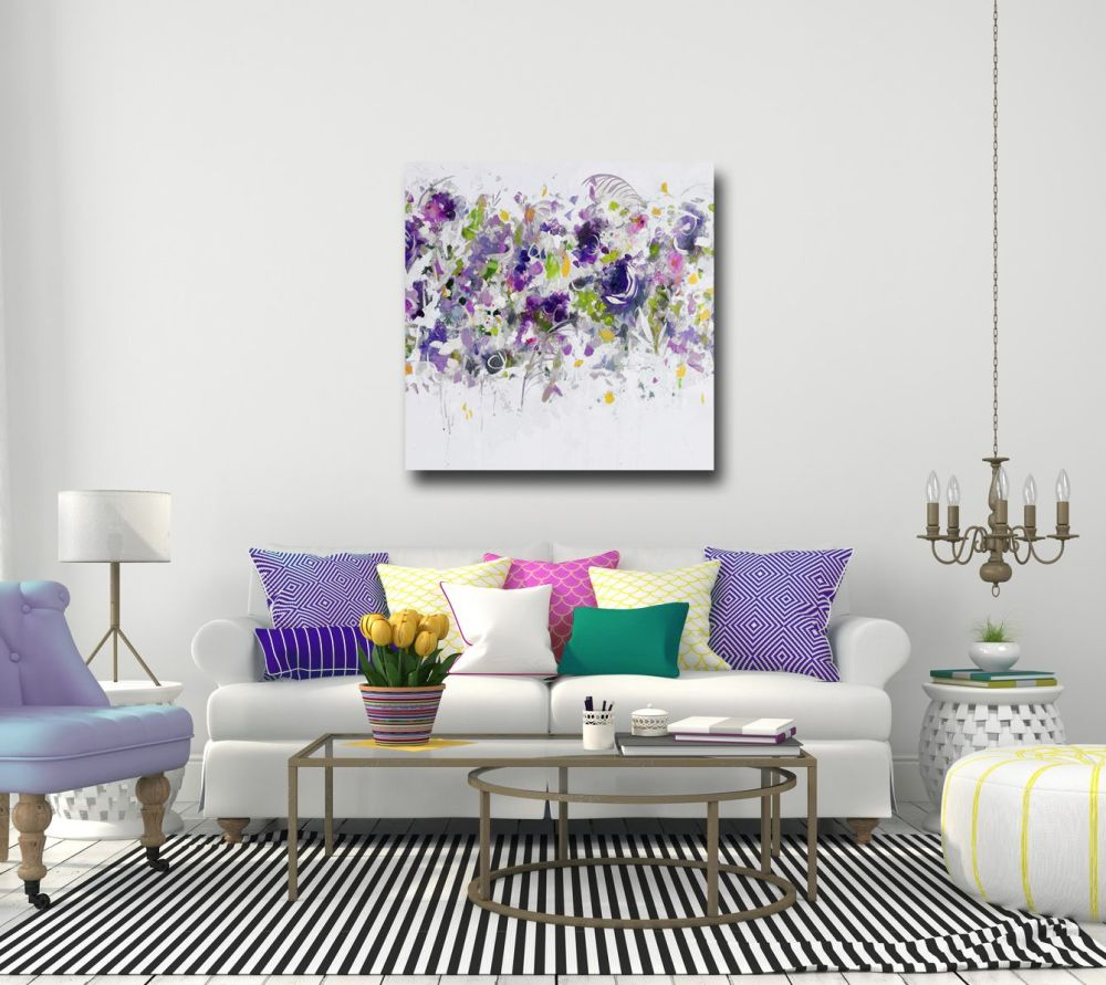 Floral Canvas Print Large Wall Art Abstract Floral