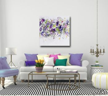 Large Floral Wall Art Giclee Print from Painting