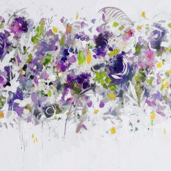 Large Floral Abstract Art Giclee Print from Painting