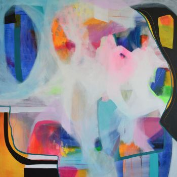 Large Original Abstract Expressionist Painting on Canvas - There's Always Something Magic