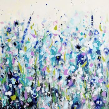 Large Floral Meadow Art Giclee Print from Painting
