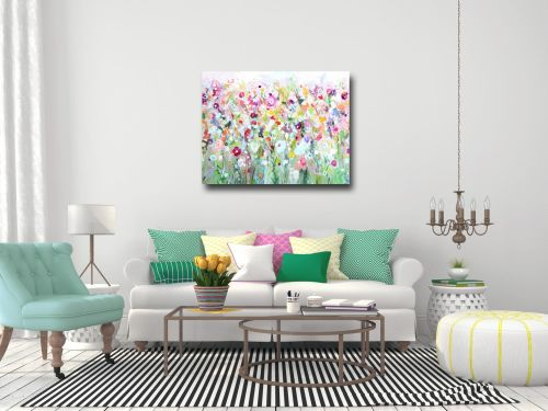 Green Meadow Large Canvas Art Print