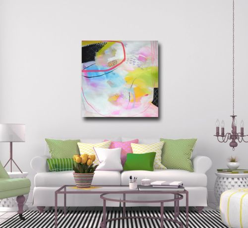Large Abstract Canvas Wall Art Giclee Print from Painting