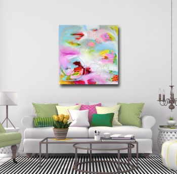 Large Abstract Art, Canvas Giclee Print from Painting, Wall Art
