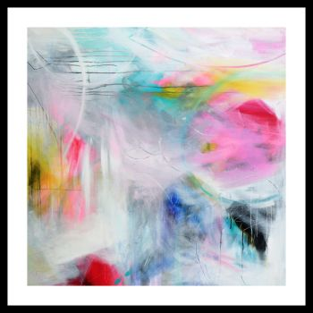 Large Abstract Giclee Print Wall Art from Painting