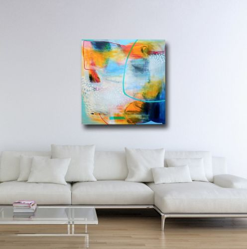 Large Abstract Canvas Art, Canvas Giclee Print from Painting, Wall Art