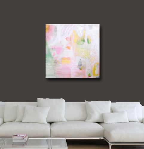 Large Abstract Wall Art, Canvas Giclee Print from Painting