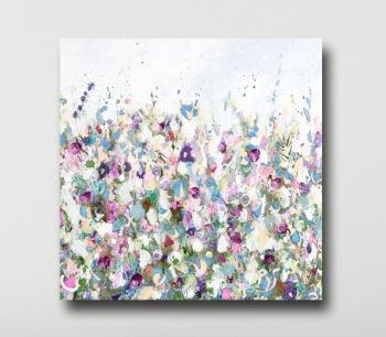 Large Floral Meadow Abstract Art Giclee Print from Painting