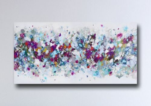 Abstract Canvas Art Panoramic Giclee Print