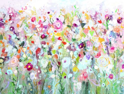 Green Meadow Large Art Print on Paper