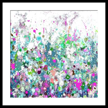 Colourful Meadow 15 - Floral Meadow Abstract Canvas Art Giclee Fine Art Print on Paper
