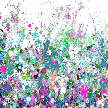 Colourful Meadow 15 - Floral Meadow Abstract Wall Art Giclee Fine Art Print on Paper