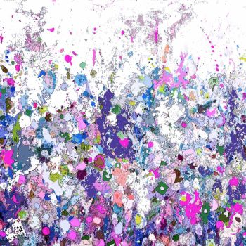 Colourful Meadow 16 - Floral Meadow Abstract Wall Art Giclee Fine Art Print on Paper