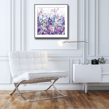 Colourful Meadow 16 - Floral Meadow Abstract Canvas Art Giclee Fine Art Print on Paper