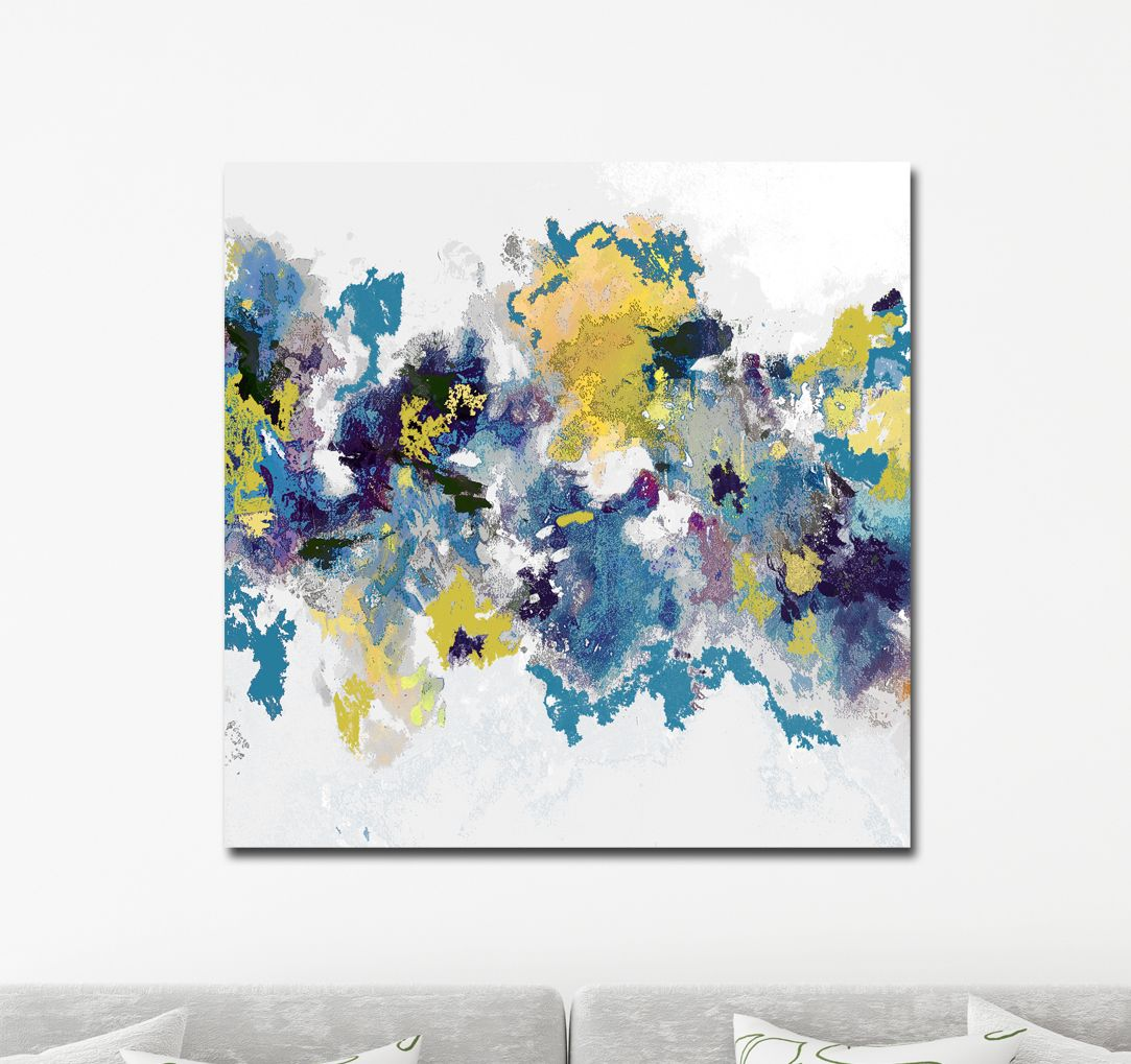 Canvas Wall Art Large Abstract Canvas Print Blue White Abstract Wall Decor Giclee Print Canvas Print From Painting Blue Purple White
