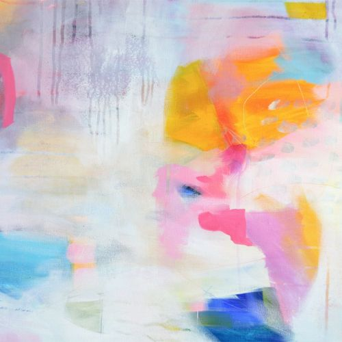 Colourful Abstract Wall Art Giclee Print from Painting