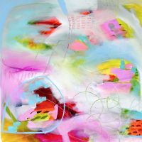 Colourful Modern Abstract Wall Art Giclee Print from Painting