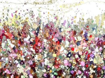 Colourful Meadow 4 - Floral Meadow Abstract Wall Art Giclee Fine Art Print on Paper