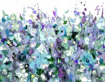 Colourful Meadow 5 - Floral Meadow Abstract Wall Art Giclee Fine Art Print on Paper