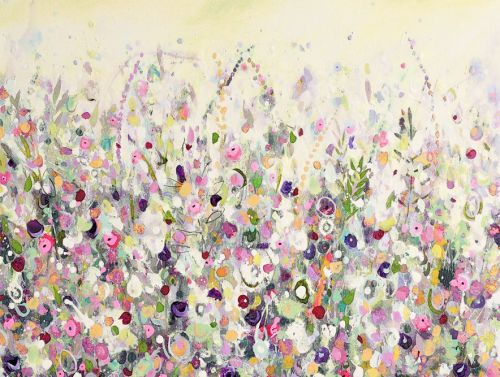 Colourful Meadow 5 - Floral Meadow Abstract Wall Art Giclee Fine Art Print