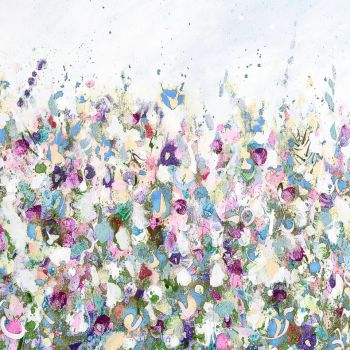 Colourful Meadow 2 - Floral Meadow Abstract Wall Art Giclee Fine Art Print on Paper
