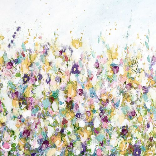 Colourful Meadow 2 - Floral Meadow Abstract Wall Art Giclee Fine Art Print
