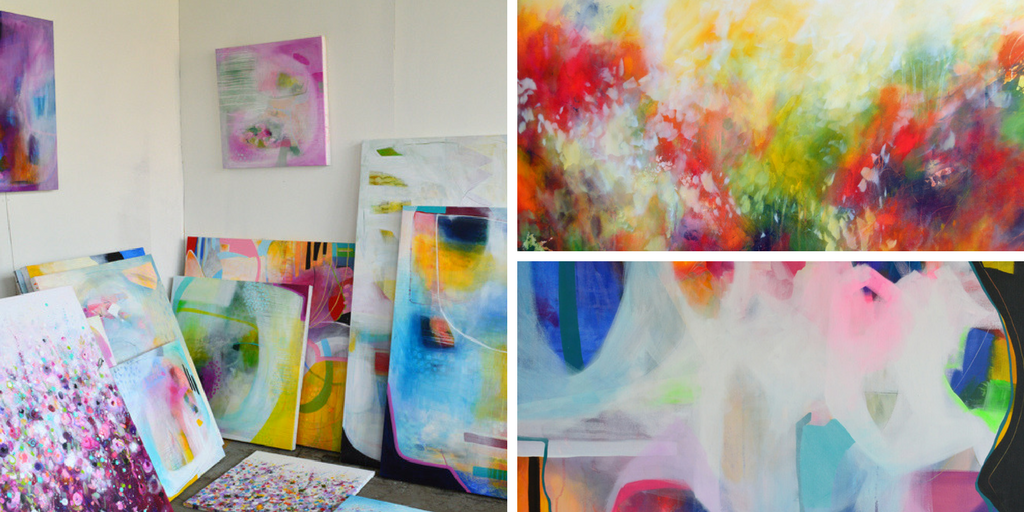 abstract and floral paintings and fine are prints on canvas and paper for sale