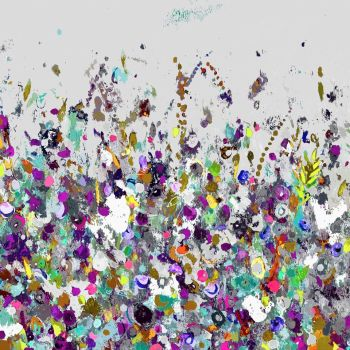 Colourful Meadow 31 - Floral Meadow Abstract Wall Art Giclee Fine Art Print on Paper