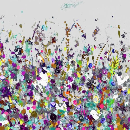 Colourful Meadow 31 - Floral Meadow Abstract Wall Art Giclee Fine Art Print