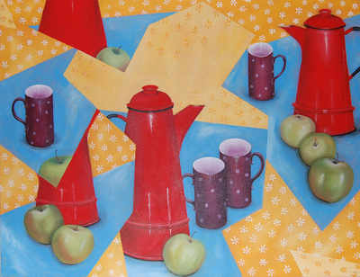 Red Coffee Pot - SOLD