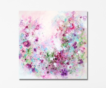 Floribunda - Large Floral Abstract Canvas Art Giclee Print