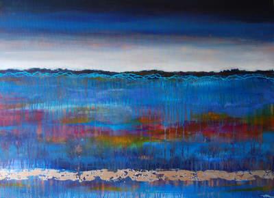 Blue Landscape - SOLD